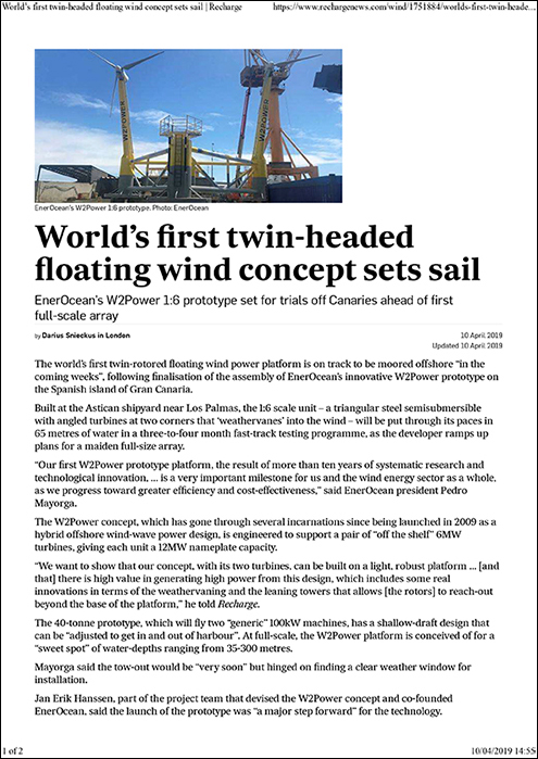 2019-04-10 World's first twin-headed floating wind concept set